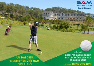 Ưu đãi đặc biệt cho golfer trẻ Việt Nam tại SAM Tuyền Lâm golf & resorts