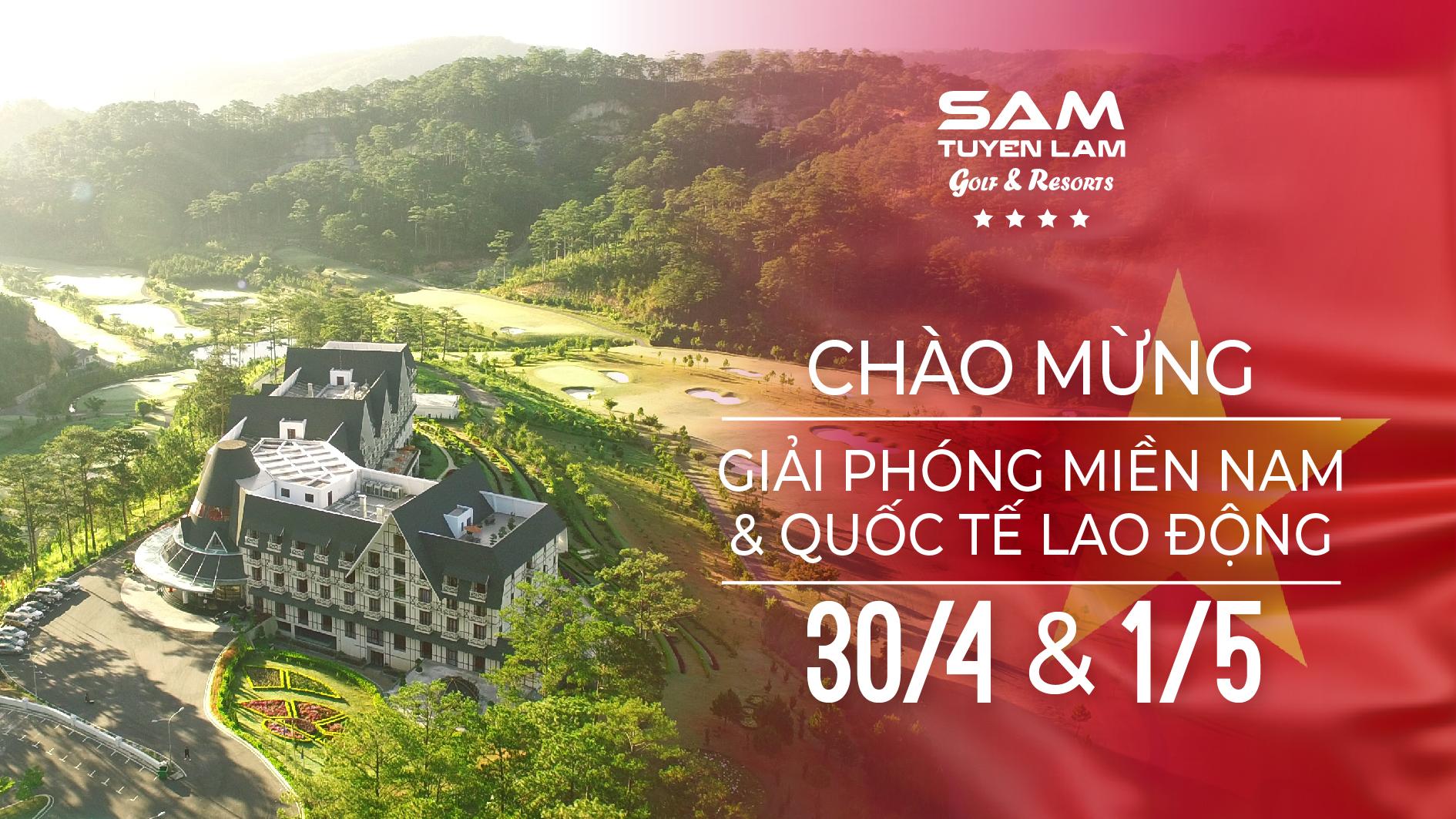 """(Tiếng Việt) Kết hợp chơi Golf & Buffet """"Trọn niềm vui"""" 30/04 tại thiên đường nghỉ dưỡng ở Đà Lạt"""
