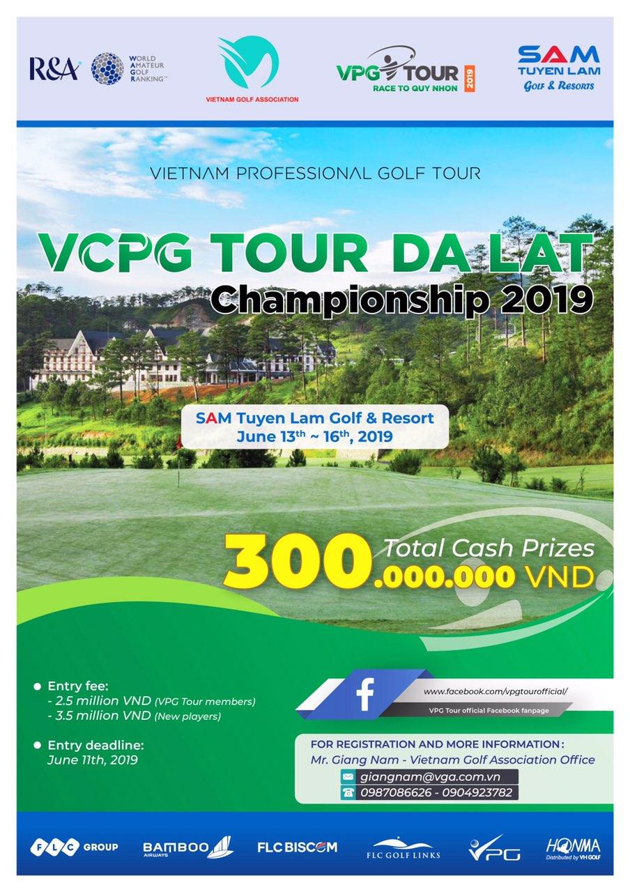 Giải Golf chuyên nghiệp VCPG TOUR DA LAT CHAMPIONSHIP 2019