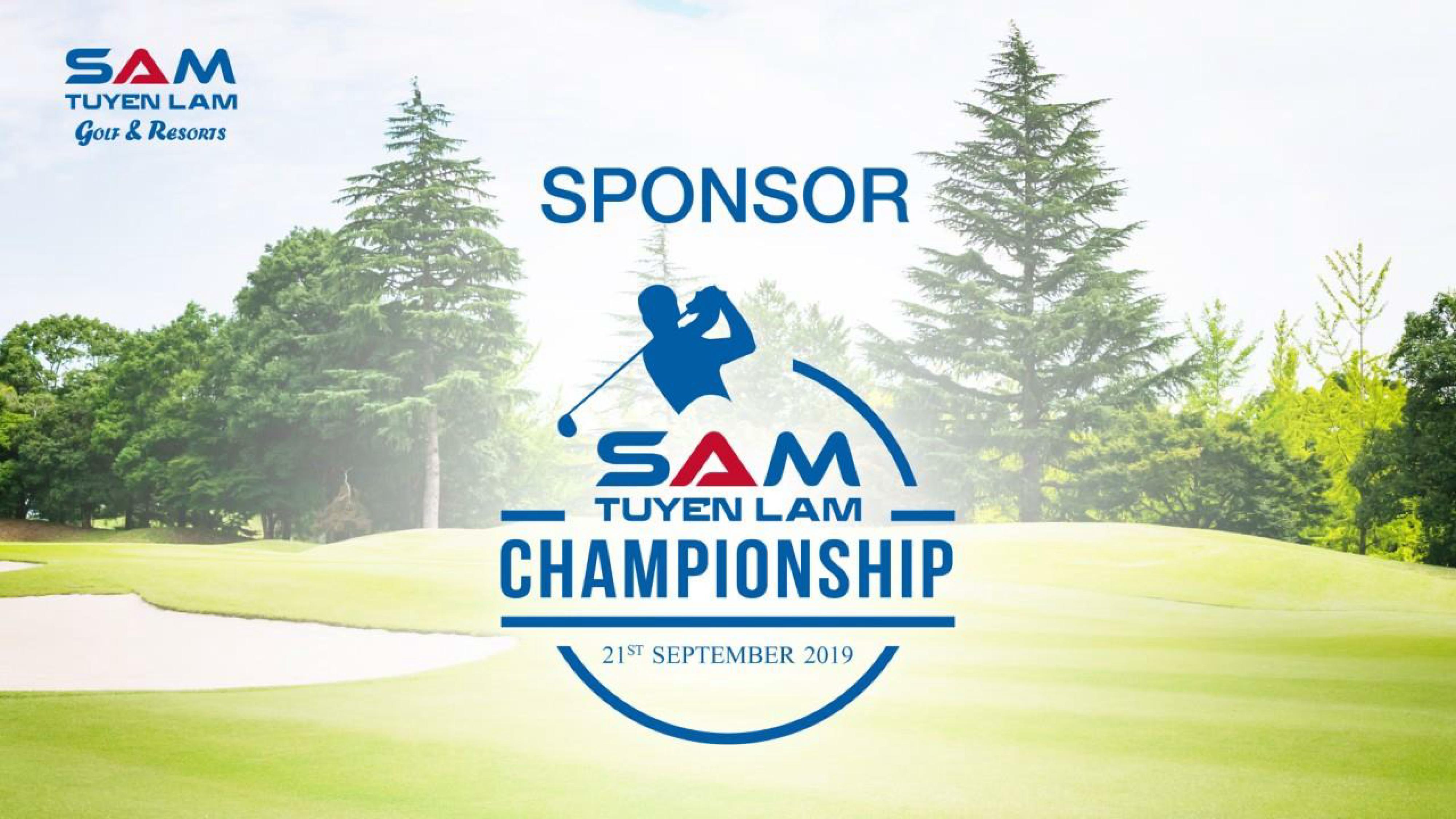 Thư mời tài trợ Giải Golf – SAM Tuyền Lâm Championship