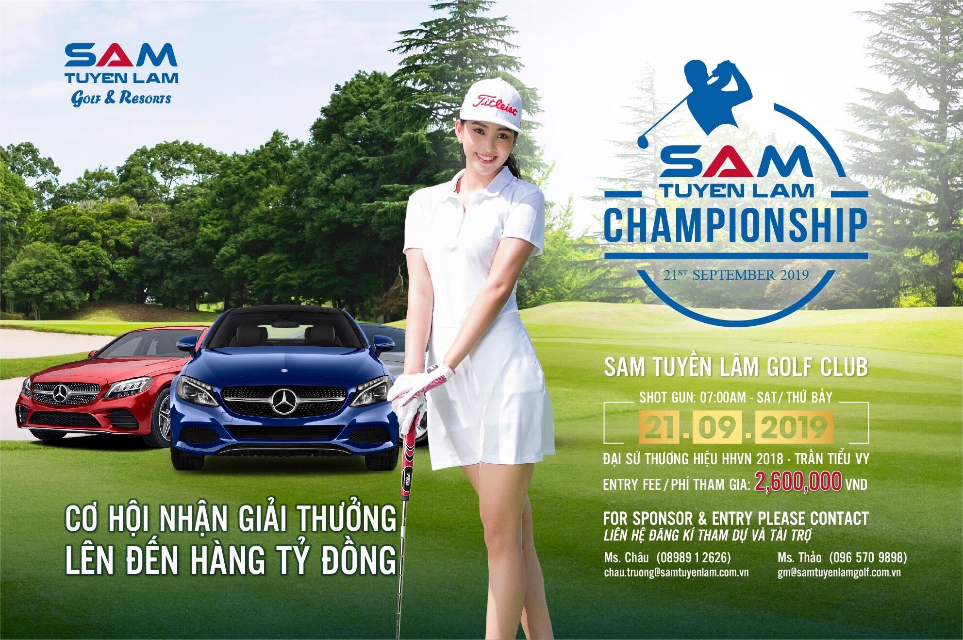Lịch trình giải SAM Tuyền Lâm Championship 2019