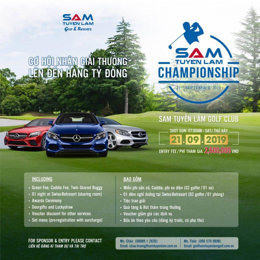 Gần 150 Golfer cùng SAM Tuyền Lâm Championship 2019 săn lùng giải thưởng siêu khủng vào tháng 09 này.