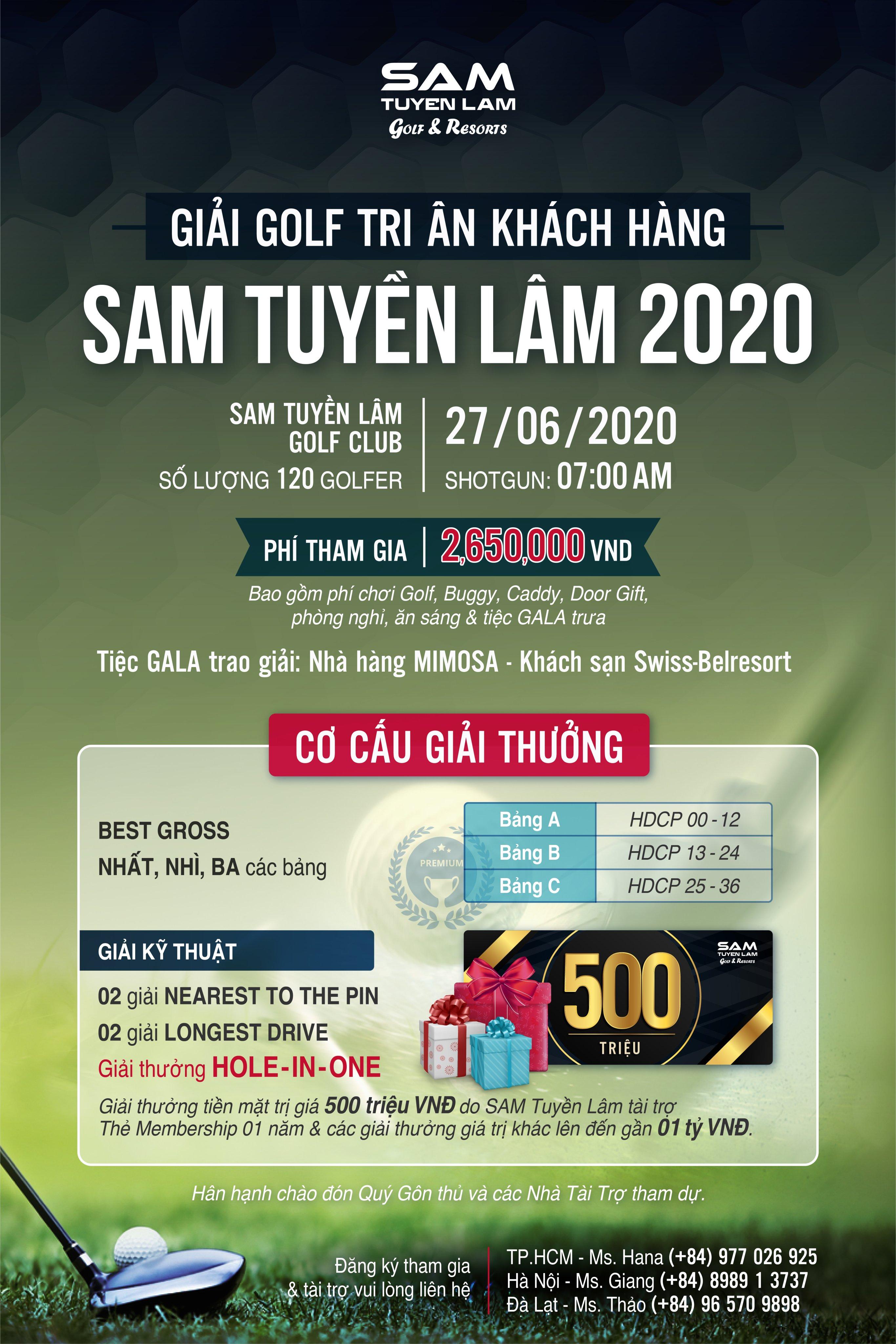 GIẢI TRI ÂN KHÁCH HÀNG SAM TUYỀN LÂM 2020