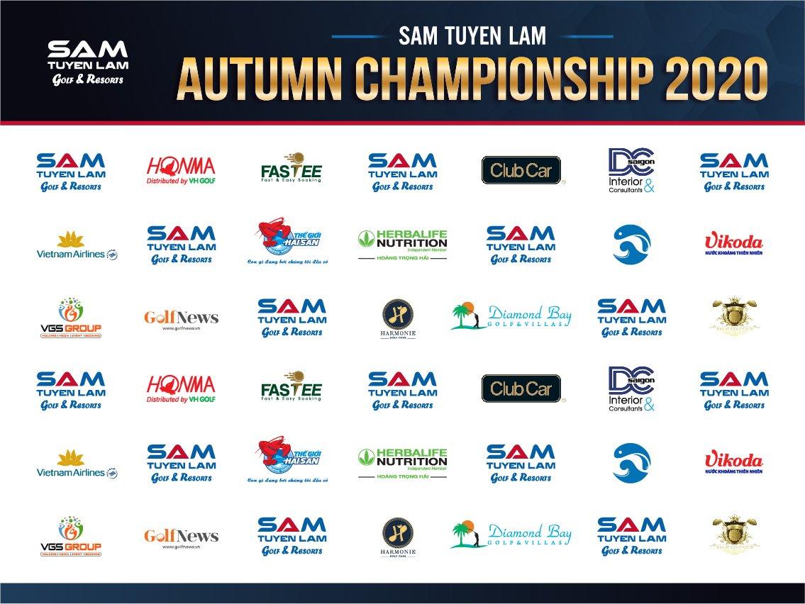 """SAM Tuyen Lam Golf Club trân trọng cảm ơn sự quan tâm, ủng hộ và đồng hành của Quý Nhà Tài Trợ cho giải golf """"SAM TUYEN LAM AUTUMN CHAMPIONSHIP 2020""""."""