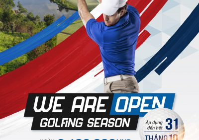 We are open – Golfing Season Promotion